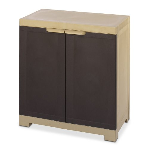 Nilkamal Freedom Mini Small (FMS) Plastic Storage Cabinet (Weathered Brown & Biscuit)