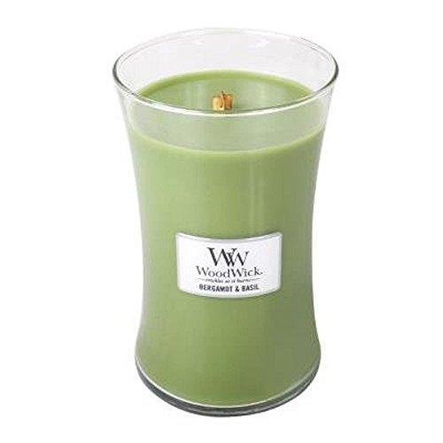 WoodWick Bergamot/Basil Pluswick Large Hourglass Candle, 22 oz. ()