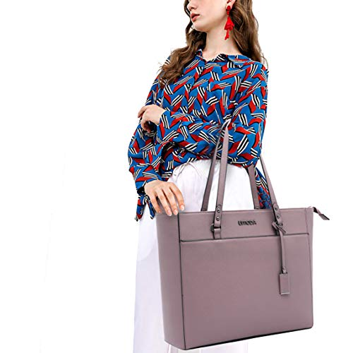 Laptop Tote Bag for Woman,13-15.6 Inch Laptop Briefcase Stand Up on its Own with Padded Compartment [Purple] Photo #6