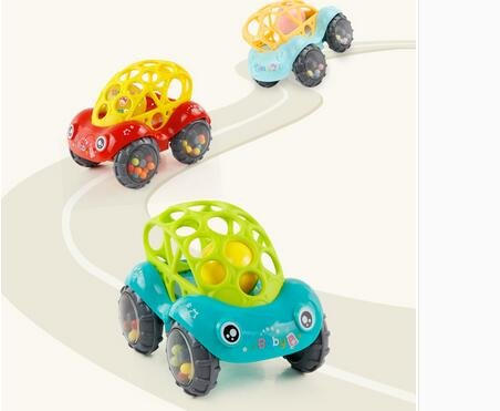 KINGSUNG Soft Rattle Car 6-12 Months Baby Puzzle 0-1-3 Hand Grasping Ball toys(color random) by KINGSUNG (Image #3)