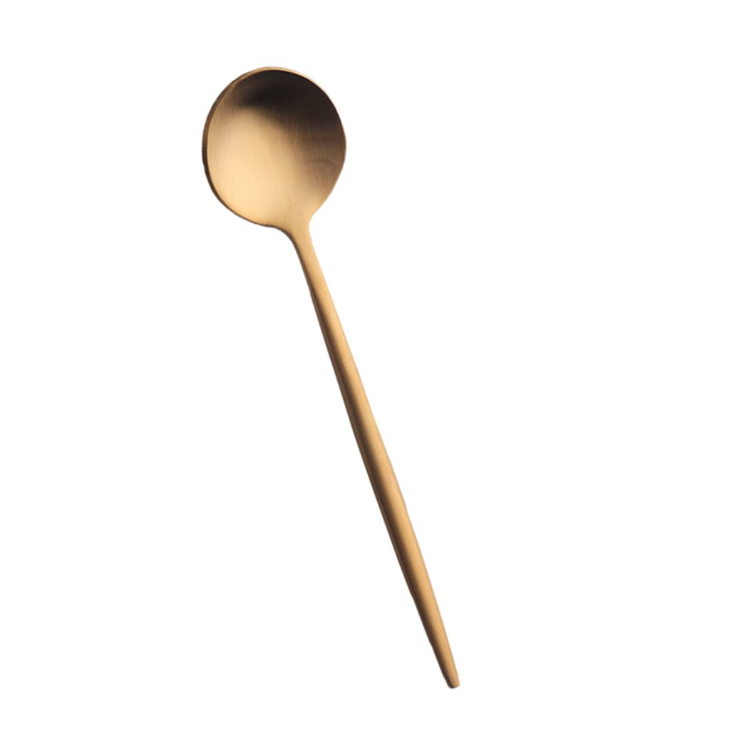 Gold as described Long Stainless Steel Ice Cream Teaspoons Coffee Soup Tea Spoons Colorful