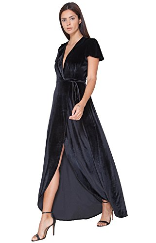 Jovina Velvet Wrap Dress by Hale Bob