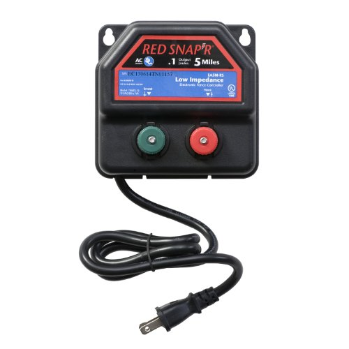 Red Snap'r EA5M-RS 5-Mile AC Powered Fence Charger (Electric Fence Charger Dc compare prices)