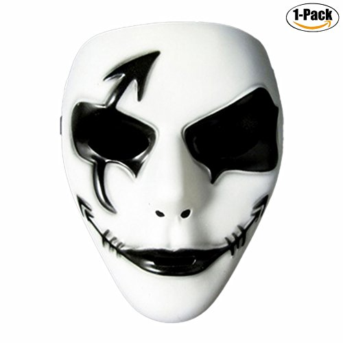 Ingerik Halloween Mask Festival Costume PVC Mask Ghost Dance erformance (Hallowween Costumes)