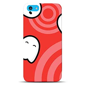 Diabloskinz D0103-0016-0006 - Carcasa para iPhone 5C, diseño de fantasmas, color rojo