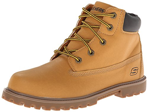 Skechers Kids Mecca Bunkhouse Classic Lace Boot,Wheat/Tan,3