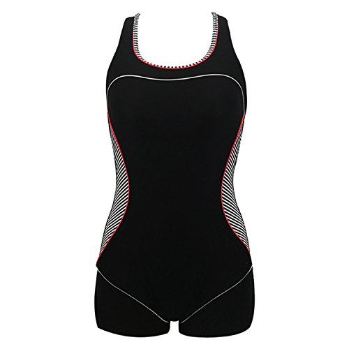 Dormery One-Piece-Swimsuits Swimwear Women Sport Sexy Backless Bodysuits Swimsuits Bathing Suit Swimming Suit Black ()