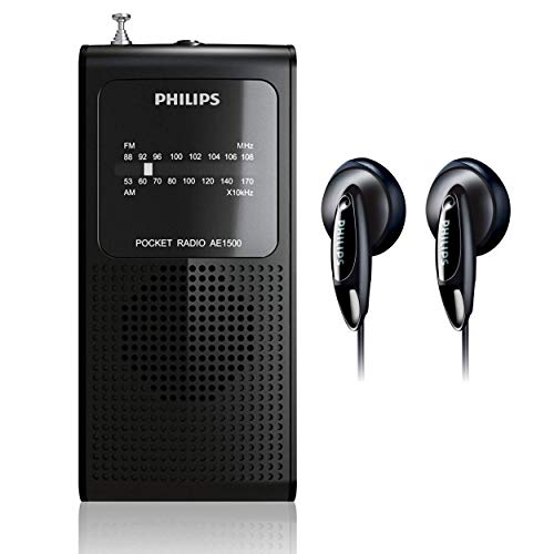 Philips AM FM Battery Operated Portable Pocket Radio