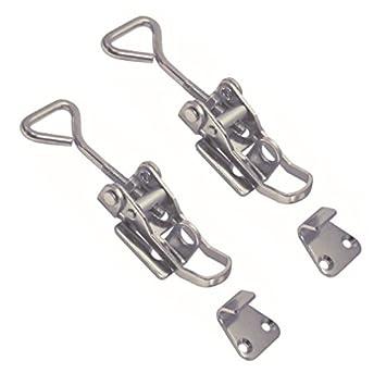 2 St/ück Edelstahl Hebelverschlu/ß 75-90 mm V2A Spannverschluss Kistenverschluss