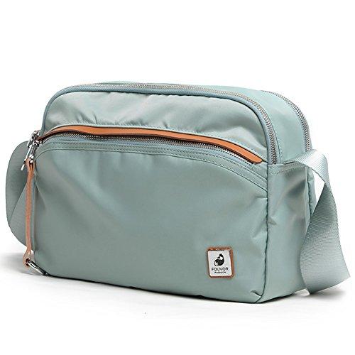 Bag Pockets Oakarbo Everyday 03 Crossbody Multi Waterproof Shoulder Lightweight Travel Gray Bag gzzYwrnaqx