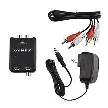 - Optical/Coaxial Digital Audio-to-Analog Audio Converter - Black