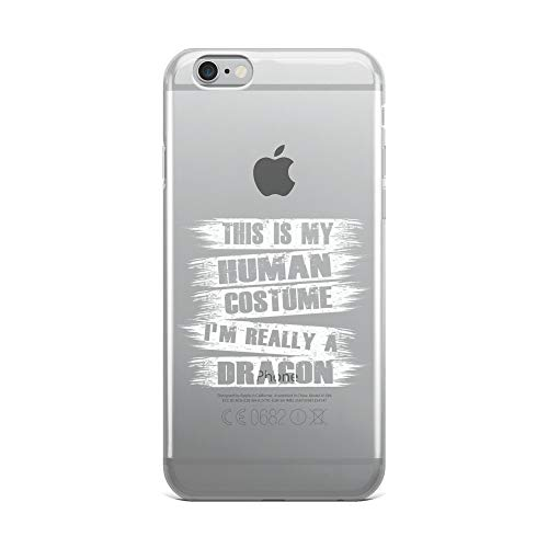 iPhone 6 Plus/6s Plus Pure Clear Case Crystal Clear Cases Cover This is My Human Costume Really A Dragon Transparent]()