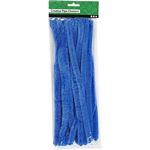 Fil chenille 15pi/èces L: 30 cm /épaisseur 15 mm bleu fonc/é