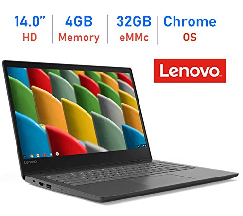 Lenovo 14'' S330 Chromebook HD Anti-Glare Display Laptop (Quad Core MediaTek MT8173c up to 2.1GHz, 4GB RAM, 32GB eMMC, Webcam, Bluetooth, HDMI, Chrome OS, Up to 10 hrs Battery, Business Black)