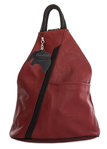 Big Black Strap Red Leather Bag Convertible Trim Backpack Handbag Soft Small Womens Shop Genuine 7waPr70qn