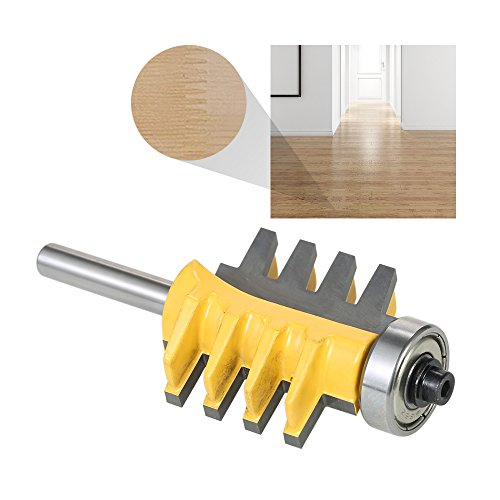 KKmoon 1/4 Shank Reversible Finger Glue Joint Router Bit Cone Tenon Woodwork Cutter Power Tool Wood Milling Chisel Cutter for Woodworking