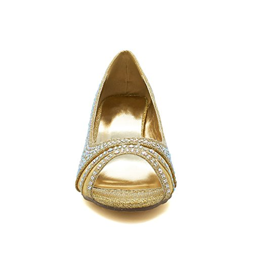 Donna Gold Footwear London Peep toe nqTAxvX