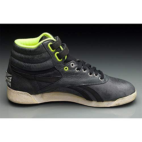Hi Top Scarpe black Reebok slv Cuoio Di Fs Nero sandtrap Freestyle Classiche yellow Donne gqaaxwp5t