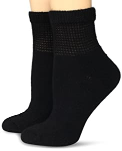 Dr. Scholl's Women's 2 Pack Diabetes Circulatory Comfort Ankle Socks