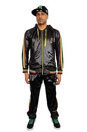 Streetwear Special Rasta León de judá Chándal Negro Negro XXL ...