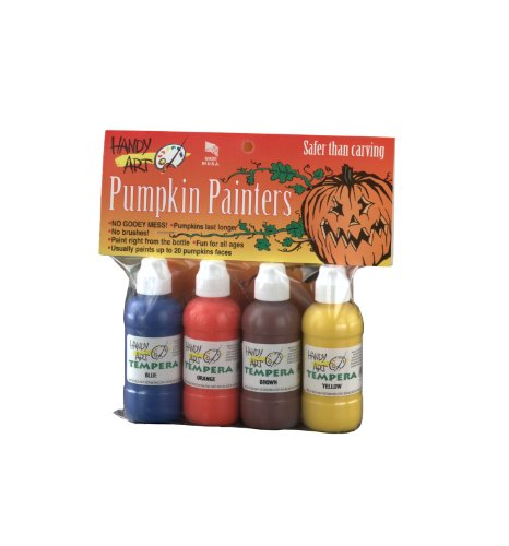 Handy Art 4 color - 2 ounce Tempera Pumpkin Painters Kit -