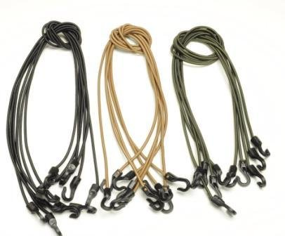 5 Tan Multicam Tactical Bungee Cords Strong High Quality Lightweight Usa Made