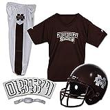 Franklin Sports NCAA Mississippi State Bulldogs Kids College Football Uniform Set - Youth Uniform Set - Includes Jersey, Helmet, Pants - Youth Medium