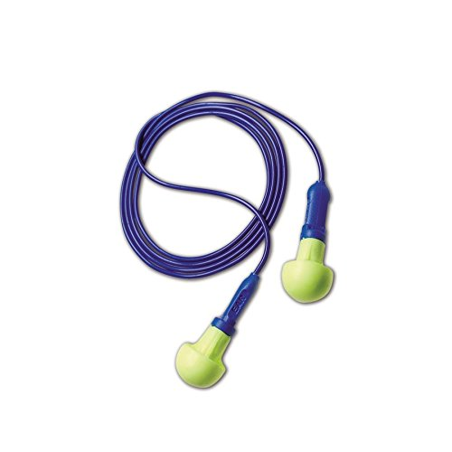 E-A-R by 3M 10080529180015 3M 318-1001 E-A-R Push-Ins Disposable Corded Earplugs, OSFA, Blue, One Size Fits All (Pack of 100) by 3M