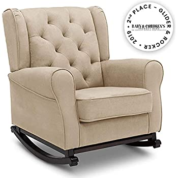 Amazon Com Delta Children Emma Upholstered Rocking Chair