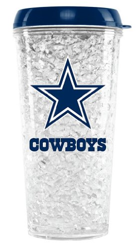 NFL Crystal Tumbler with Straw - Dallas Cowboys Dallas Cowboys Nfl Crystal