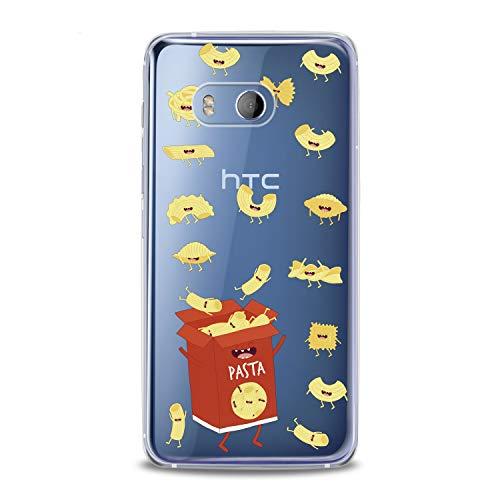 Lex Altern TPU Case HTC Desire 12 Plus U12 U11 Life Dual Sim Card + Clear Cute Pasts Box Red Hungry Yellow Funny Macaroni Silicone Cover Protective Flexible Girls Kawaii Design Women Transparent -