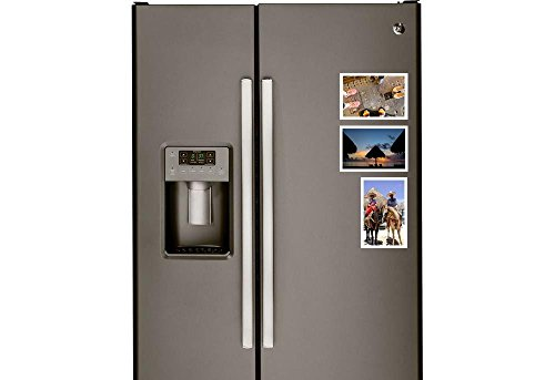 10 Pack, 4x6 Magnetic Photo Fame, Display your Favorite Family and Photo Booth Photos on your Refrigerator, Locker or Office by Pixels and Giggles