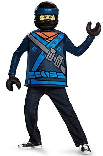 Disguise Jay Lego Ninjago Movie Classic Costume, Blue, Medium -