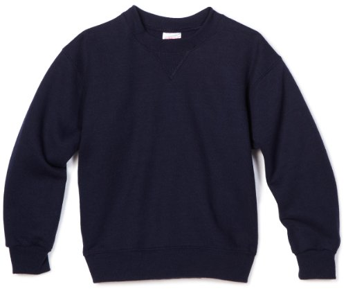 - MJ Soffe Big Boys' Crew Sweatshirt, Navy, Medium