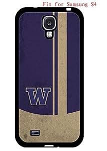 Back/Black Samsung Galaxy S4 I9500 Case University of Washington Logo NCAA AgnesPro Design for Guys 3517