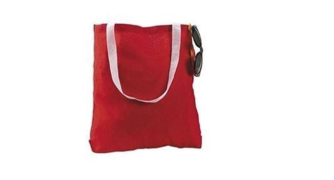 amazon com large red canvas tote bag 1 dozen bulk travel totes