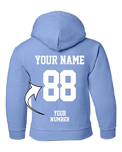 Custom Hoodies for Youth - Design Your OWN Jersey - Pullover Hooded Team Sweaters ()
