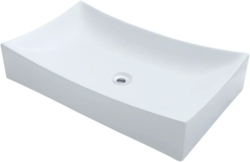 V330-W White Porcelain Vessel Lavatory Sink