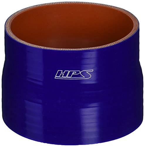HPS HTSR-375-400-BLUE Silicone High Temperature 4-ply Reinforced Reducer Coupler Hose, 40 PSI Maximum Pressure, 3'' Length, 3-3/4'' > 4'' ID, Blue by HPS