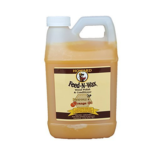 (Howard Feed-N-Wax Restorative Wood Polish and Conditioner 64oz 1/2 Gallon, Polish Wood Floors, Antique Furniture Restoration, Wood Furniture)
