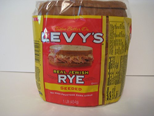 Jewish Bread - Levy's Real Jewish Rye Seeded Bread, 1 Pound!