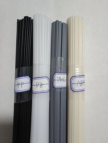 40PCS Plastic welding rods ABS/PP/PVC/PE welder rods for plastic welder gun/hot air gun 1PC=19.5 Inch(Each 10pcs rods)