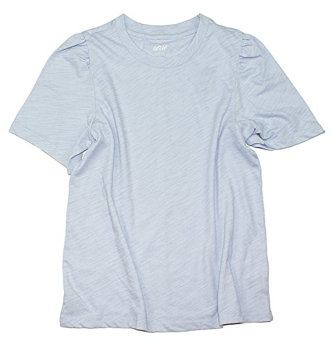 American Eagle Aerie Women's Oh Baby! Cropped Tee W-16 (Large, 461 Blue)