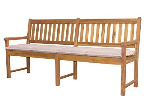 Auflage-Gartenbank-Akazie-200cm-Sand