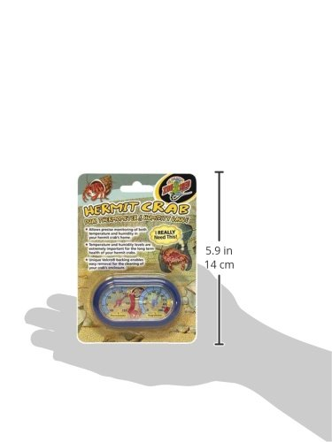 Zoo-Med-Hermit-Crab-Thermometer-and-Humidity-Gauge-Colors-May-Vary