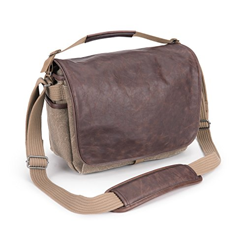 Think Tank Retrospective 7 Medium Shoulder Bag for DSLR Body, Mirrorless System and 10'' Tablet, Leather/Sandstone by Think Tank Photo