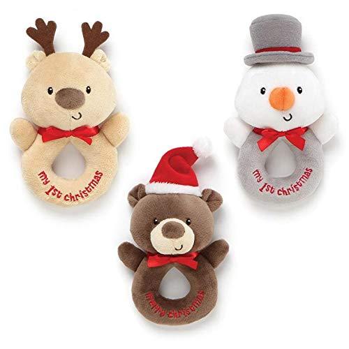 Gund My 1st Christmas Rattle (One Randomly Chosen) ()