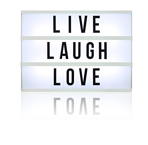 Northpoint GM8282 Lightbox with 109 Letters, Numbers and Symbols, ONE Size, White