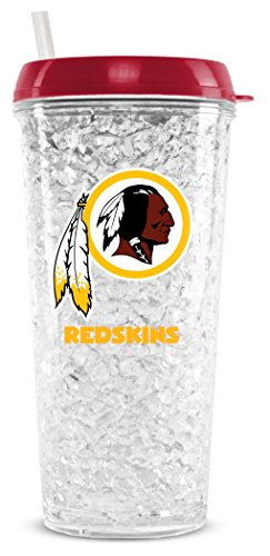 NFL Washington Redskins 16oz Crystal Freezer Tumbler with Lid and Straw