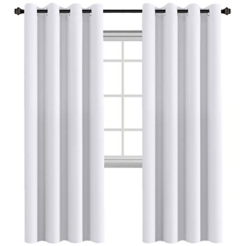 H.VERSAILTEX Thermal Insulated Innovated High Density Microfiber Home Fashion Grommet Blackout Curtains and Tie Backs